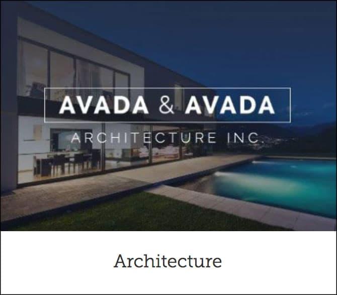 Avada Architecture Theme
