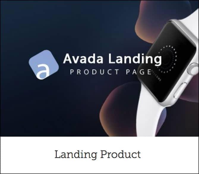 Avada Landing Product Theme