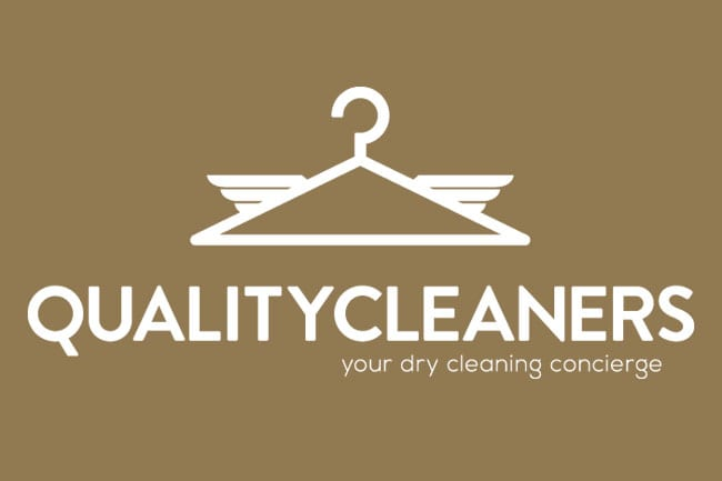 Quality Cleaners Logo White